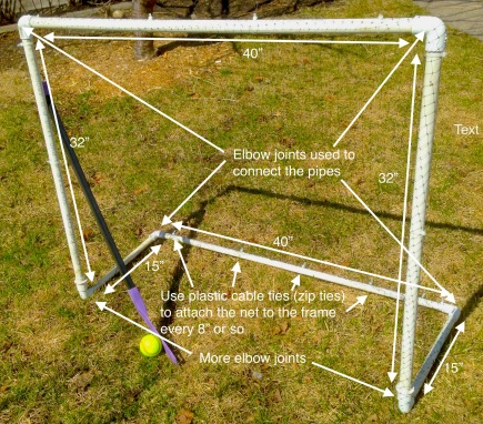 DIY soccer or hockey net